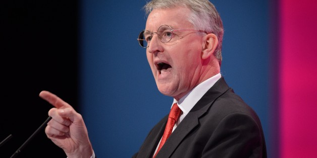 British Labour Party politician Hilary Benn addresses delegates in the main hall of Manchester Central, in Manchester on September 21, 2014 on the first day of the Labour Party conference. AFP PHOTO/LEON NEAL        (Photo credit should read LEON NEAL/AFP/Getty Images)