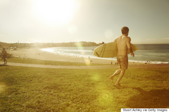 male surfer