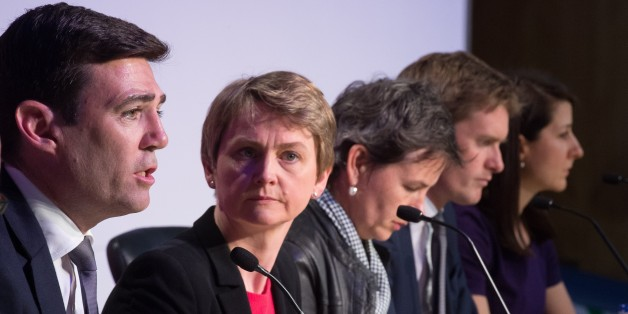 Andy Burnham, Yvette Cooper, Mary Creagh, and Liz Kendall (LEON NEAL/AFP/Getty Images)