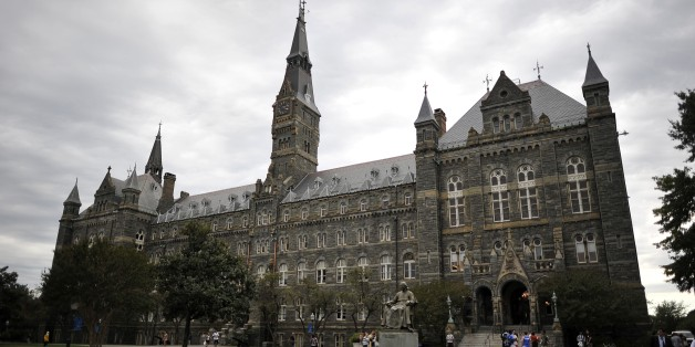 Healy Hall, the flagship building of Georgetown University's main campus in Washington, D.C., is seen on September 30, 2011. (MLADEN ANTONOV/AFP/Getty Images)