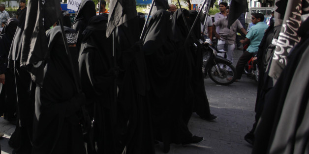 Protest held on 6 September 2014 calling for Islamic Shariah to be implemented in Maldives. Protestors used their democratic right to call to end democracy & claim that its a religion among other things.