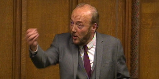 George Galloway MP speaks during a sitting of the house motion in the House of Commons in London as the Government plans to cancel Prime Minister's Questions so that senior ministers can attend Baroness Thatcher's funeral.