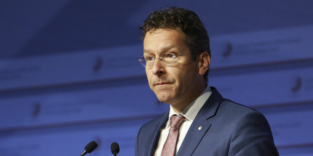 Eurogroup president Jeroen Dijsselbloem participates in the Informal Meeting of Ministers for Economic and Financial Affairs of the European Union in Riga, Latvia on Friday, April 24, 2015. Greece's finance minister came under fire Friday from his peers in the 19-country eurozone for failing to come up with a comprehensive list of economic reforms that are needed if the country is to get vital loans to avoid going bankrupt. (Dmitris Sulzics/F64 Photo Agency via AP)