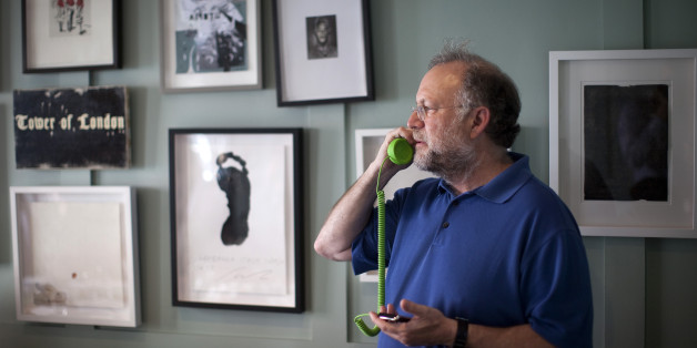 Jerry Greenfield, co-founder of Ben & Jerry's Homemade Inc. ice creams, speaks on his mobile phone in London, U.K., on Tuesday, May 22, 2012. Unilever NV, parent of Ben & Jerry's, said costs for raw materials in 2012 will be 'slightly higher' than the mid-single-digit increase the company forecast in February, citing high prices for crude oil and vegetable oils. Photographer: Simon Dawson/Bloomberg via Getty Images