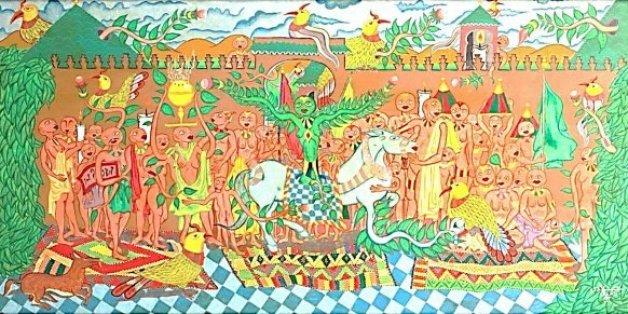 Cette œuvre signée Abbès Saladi a été adjugée à un prix record