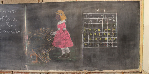 100 Year Old Chalkboard Drawings Discovered At A School