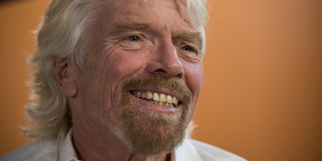 Richard Branson, chairman and founder of Virgin Group Ltd., smiles during a Bloomberg Television interview in San Francisco, California, U.S., on Thursday, April 23, 2015. Branson and Facebook Inc. Chief Operating Officer Sheryl Sandberg's interview comes on the sidelines of the Virgin Disruptors conference which focuses on employee wellbeing.
