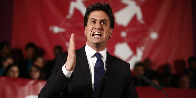 Leader of the opposition Labour Party, Ed Miliband speaks during a pre-UK general election event hosted by Citizens UK in London, on May 4, 2015. With polls showing the two main parties neck-and-neck and unlikely to win a majority, the race to take Downing Street will likely hinge on smaller parties such as the Scottish National Party (SNP) and the Liberal Democrats.    AFP  PHOTO / JUSTIN TALLIS        (Photo credit should read JUSTIN TALLIS/AFP/Getty Images)