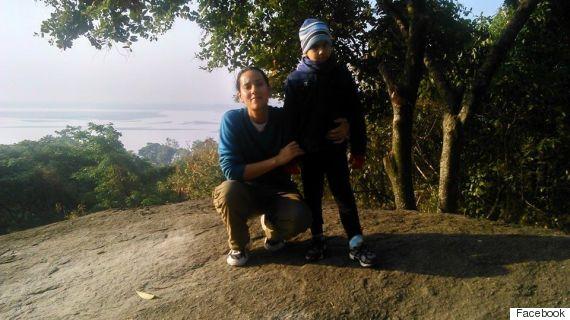 sanjukta with her son