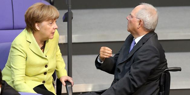 Schäuble mit Kanzlerin Merkel