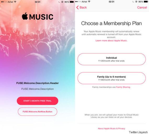 apple music prices
