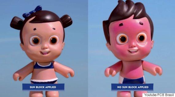 nivea sunscreen dolls