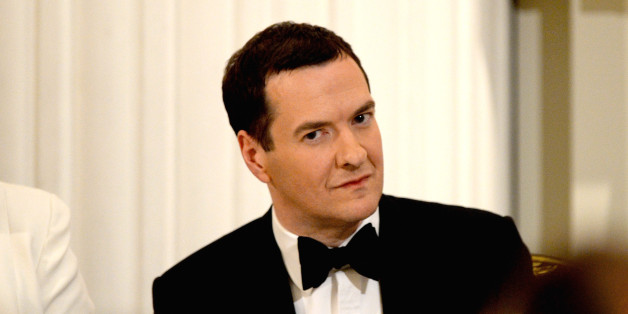 George Osborne at the annual 'Lord Mayors Dinner to the Bankers and Merchants of the City of London' at the Mansion House last night