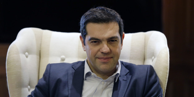 "Greece's Prime Minister Alexis Tsipras meets Governor of the Bank of Greece Yannis Stournaras at Maximos Mansion in Athens, Friday, March 6, 2015. European Central Bank head Mario Draghi said the ECB ""stood ready"" to once again permit Greek banks to use junk-rated Greek government bonds as collateral to get credit from the ECB. That would happen as soon as the bank assesses that Greece is likely to successfully complete a creditor review of its progress. (AP Photo/Thanassis Stavrakis)"
