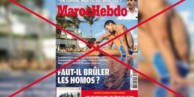 """Une association porte plainte contre la une homophobe de """"Maroc Hebdo"""""""