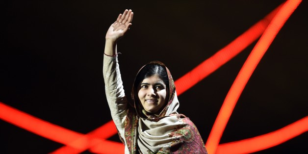 Nobel Peace Prize laureate Malala Yousafzai  greets the audience at the Nobel Peace Prize Concert at the Oslo spectrum on December 11, 2014. The 17-year-old Pakistani girls' education activist Malala Yousafzai known as Malala shares the 2014 peace prize with the Indian campaigner Kailash Satyarthi, 60, who has fought for 35 years to free thousands of children from virtual slave labour.   AFP PHOTO / ODD ANDERSEN        (Photo credit should read ODD ANDERSEN/AFP/Getty Images)