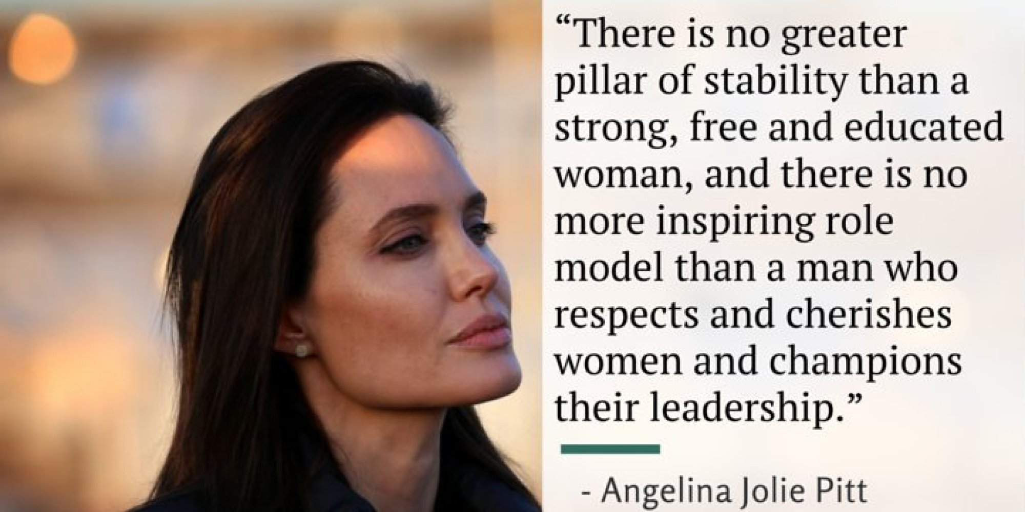 Womens Rights Quotes Angelina Jolie's Powerful Speech On What Women Really Need From