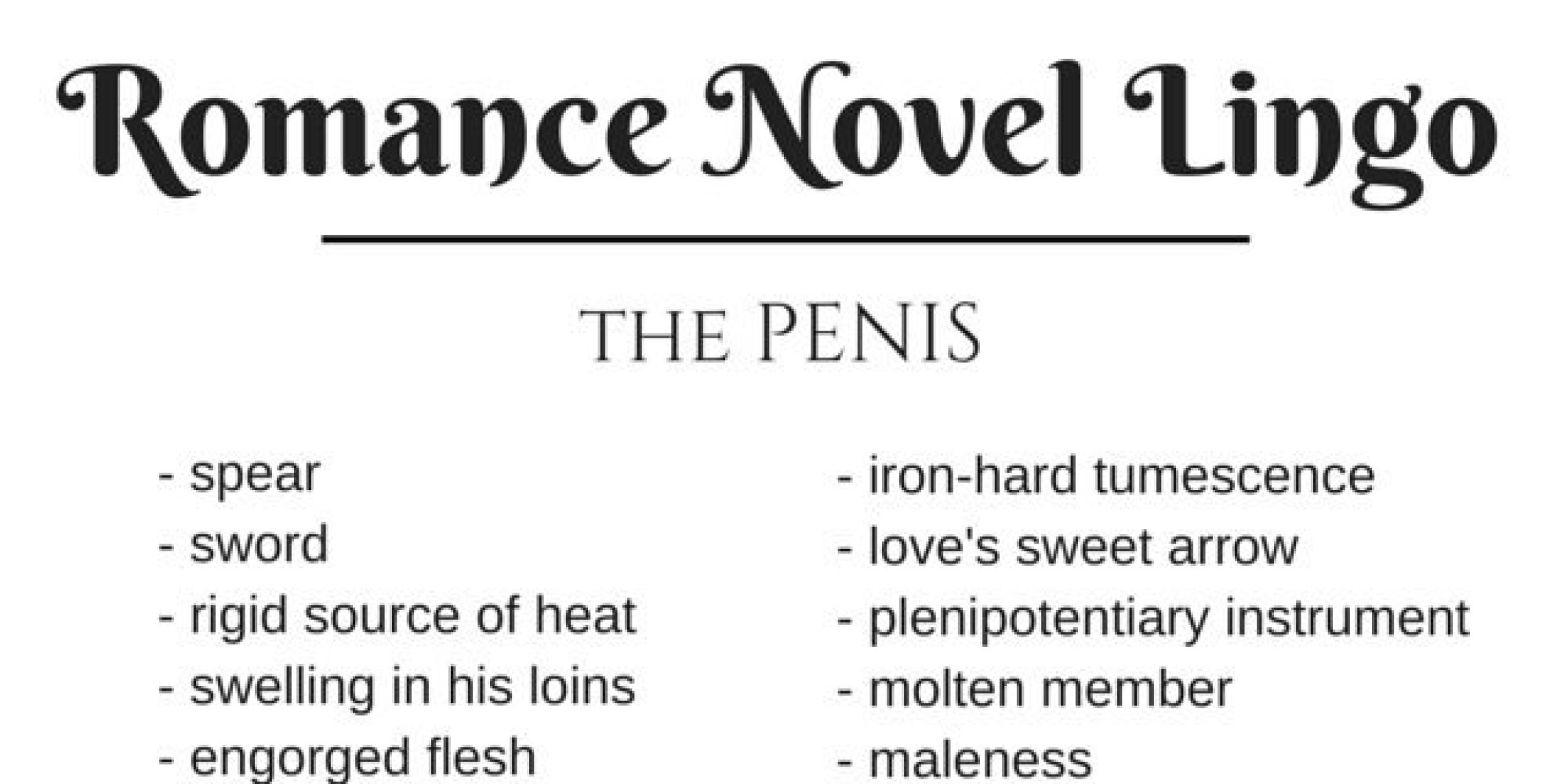 Adjective for penis