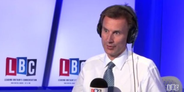 Jeremy Hunt defended his words on LBC