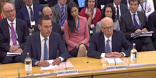 James Murdoch and Rupert Murdoch give evidence to the Culture, Media and Sport Select Committee in the last Parliament