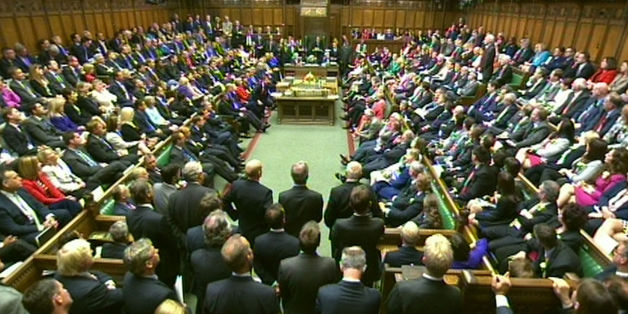MPs in the House of Commons in London during a debate on the Queen's Speech.