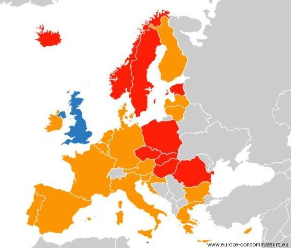 alcool volant europe