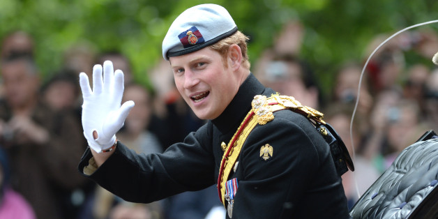 Prince Harry at Trooping the Colour, The Mall, London.
