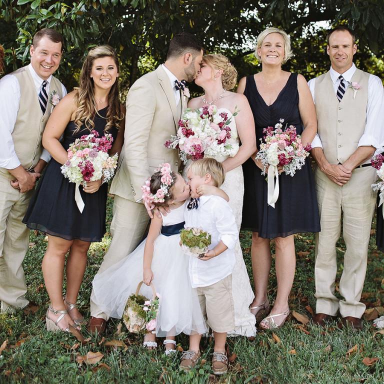 photo baiser mariage