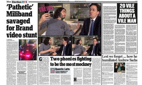 daily mail russell brand ed miliband