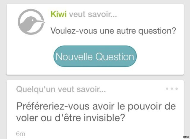 Kiwi   la nouvelle application de