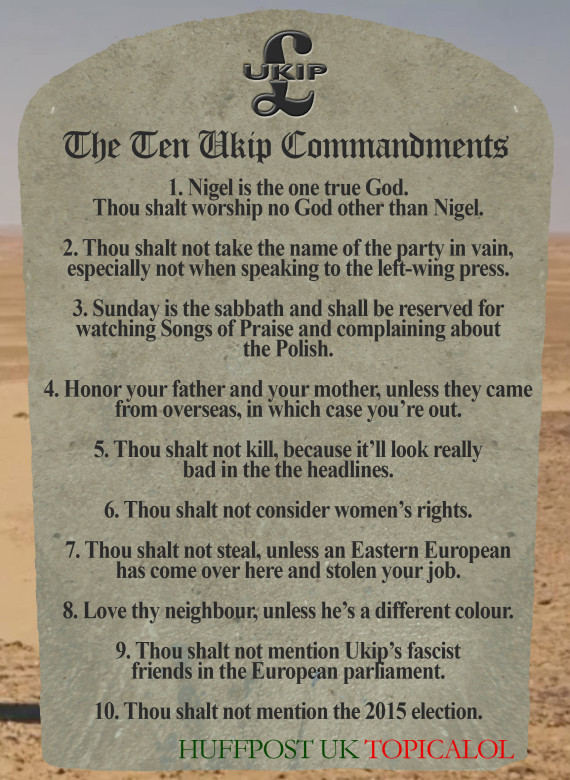 ten ukip commandments huffpost uk