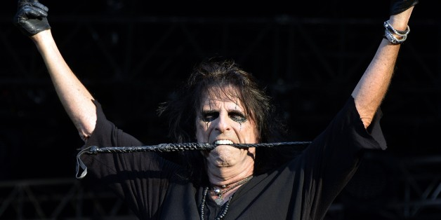 US singer Alice Cooper performs during the Hellfest heavy metal and hard rock music festival Hellfest in Clisson, near Nantes, western France, on June 19, 2015. AFP PHOTO GEORGES GOBET        (Photo credit should read GEORGES GOBET/AFP/Getty Images)