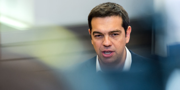 Greek Prime Minister Alexis Tsipras speaks during a media conference at an EU summit in Brussels on Monday, June 22, 2015. Eurozone finance ministers were cautiously optimistic on Monday that a deal on Greece's bailout was finally within reach this week, amid fears the country might otherwise default on its debts and fall out of the euro. (AP Photo/Geert Vanden Wijngaert)