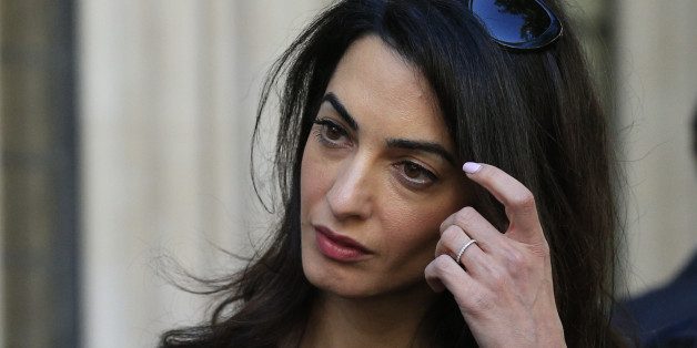 Amal Clooney leaves the Supreme Court in London, as she is part of the legal team representing former residents of the Chagos Islands who challenged a decision made six years ago by the House of Lords which dashed their hopes of returning home to their native islands in the Indian Ocean.