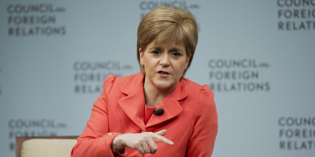 Scottish First Minister Nicola Sturgeon answers questions during her appearance at the Council on Foreign Relations in Washington, Thursday, June 11, 2015. Sturgeon is visiting the US as part of a drive to promote trans-Atlantic trade with Scotland.(AP Photo/Pablo Martinez Monsivais)
