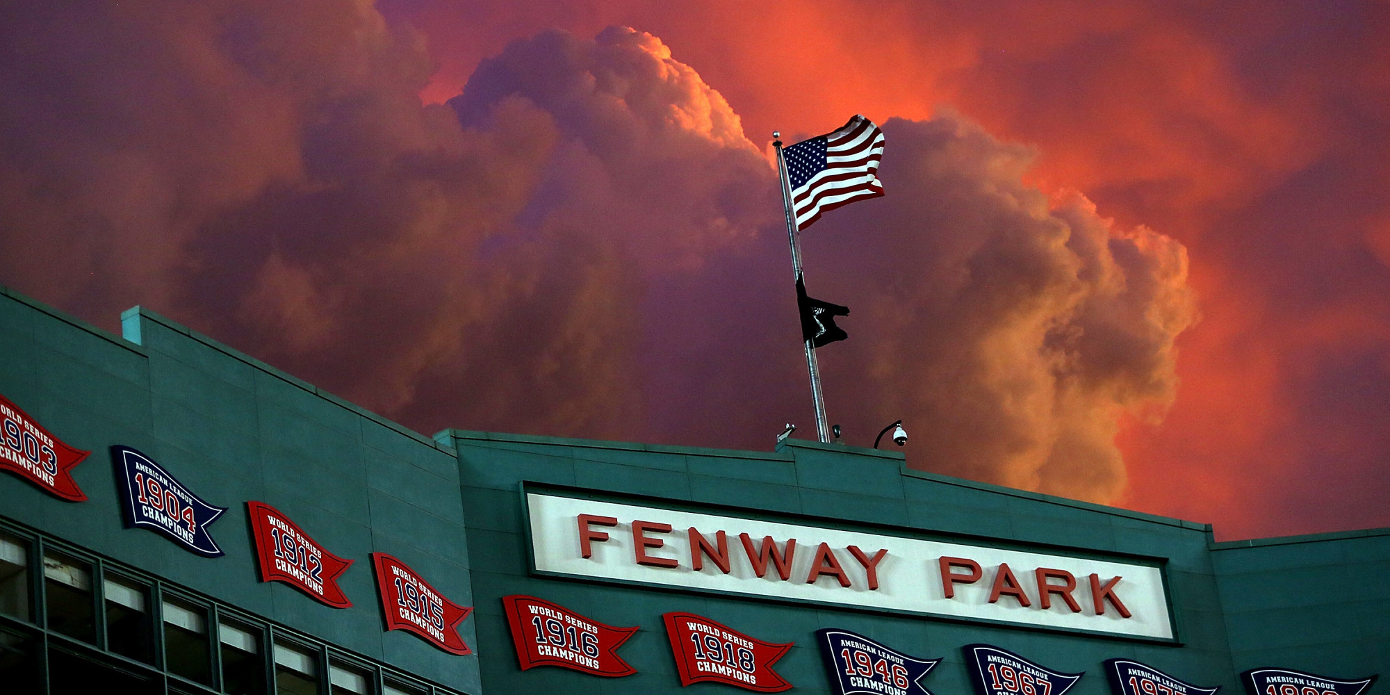 The Sunset Over Fenway Park Was Awe Inspiring Last Night