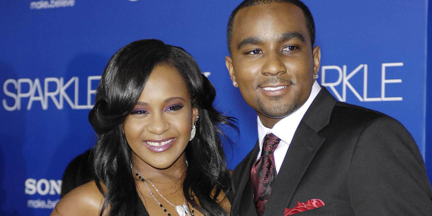 "Photo by: Michael Germana/STAR MAX/IPx Bobbi Kristina Brown, Whitney Houston's 21 year old daughter, was ""fighting for her life"" surrounded by loved ones in a hospital on Monday, February, 2nd, 2015 - her family said - after she was found face down and unresponsive in a bathtub at her Georgia home on Saturday, January 31st, 2015.  Here File Photo: 8/16/12 Bobbi Kristina Brown and Nick Gordon at the premiere of ""Sparkle"". (Los Angeles, CA)"