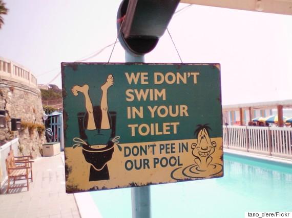 pee swimming pool