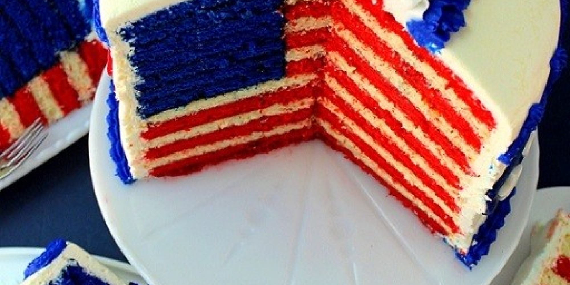 American Flag Cake Recipe Dishmaps