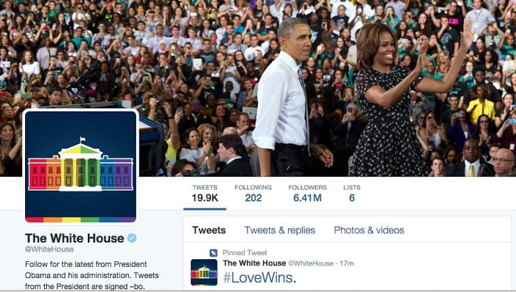 white house marriage equality twitter page