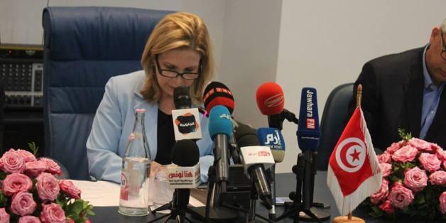 Selma Elloumi Rekik, ministre tunisienne du Tourisme, le lundi 29 juin 2015