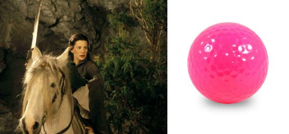 lotr pink golf ball