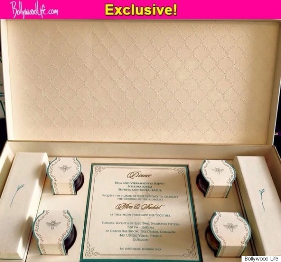 Shahid Kapoor And Mira Rajputs Wedding Card Has Been Leaked