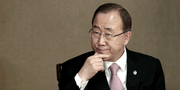U.N. Secretary-General Ban Ki-moon attends the U.N. Academic Impact Seoul Forum in Seoul, South Korea, Wednesday, May 20, 2015. Ban said Wednesday that North Korea had withdrawn an invitation to visit a factory park in the country, a day after he announced he would travel to the last major cooperation project between the rival Koreas.(AP Photo/Ahn Young-joon)