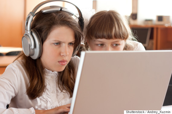 girl computer