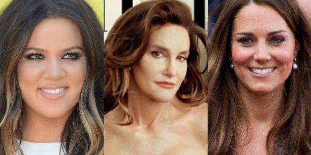 Caitlyn Jenner zwischen ihren möglichen Vorbildern Khloé Kardashian (l.) und Herzogin Catherine