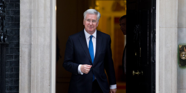 Michael Fallon arrives at 10 Downing Street, London, following the Conservative's victory in the General Election.