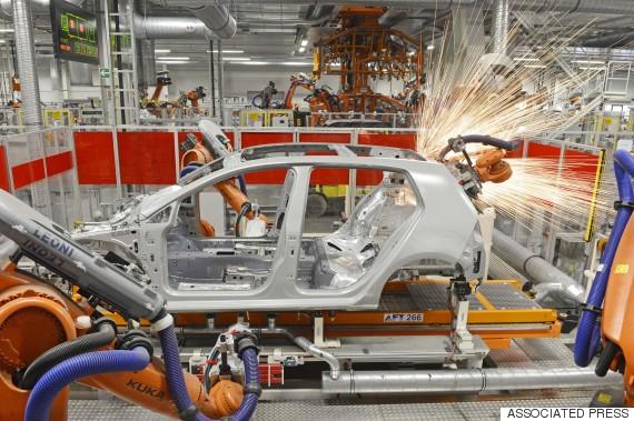 volkwagen car robot