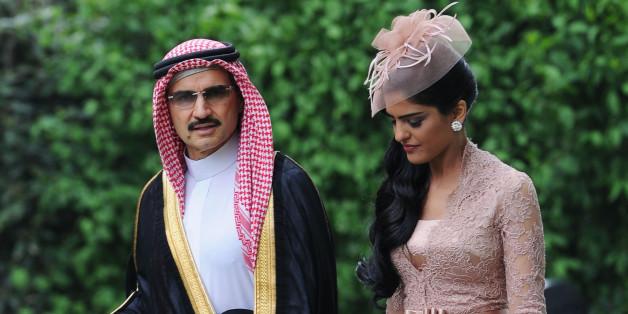 Prinz Al-Walid bin Talal al-Saud mit Prinzessin Ameerah