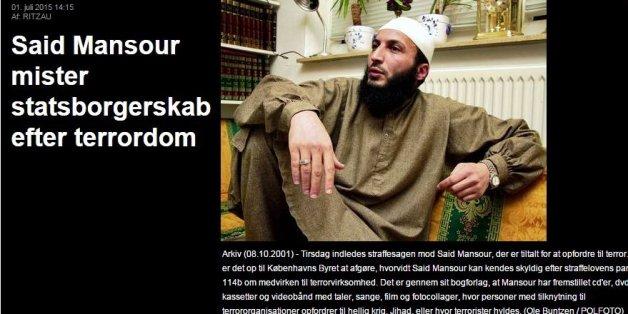 Un djihadiste dano-marocain déchu de sa nationalité danoise